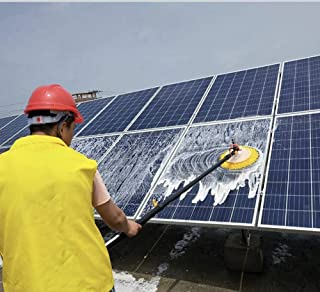 FZYE Cepillo de Limpieza de Ventanas Cepillo de Limpieza de Paneles fotovoltaicos rotación automática Herramienta retrácti...
