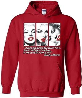 Marilyn Monroe Wise Girl Kisses Unisex Hoodie Sweatshirts