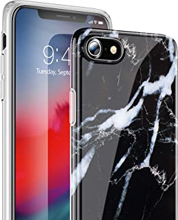 TORRAS Slim Thin Marble iPhone 7 Case/iPhone 8 Case, Soft Flexible TPU Silicone Protective Phone Case Cover Compatible with iPhone 7 / iPhone 8 (4.7-inch), Black