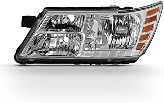 For 2009-18 Dodge Journey Driver Side Only Headlight Assembly Chrome Housing Clear Lens