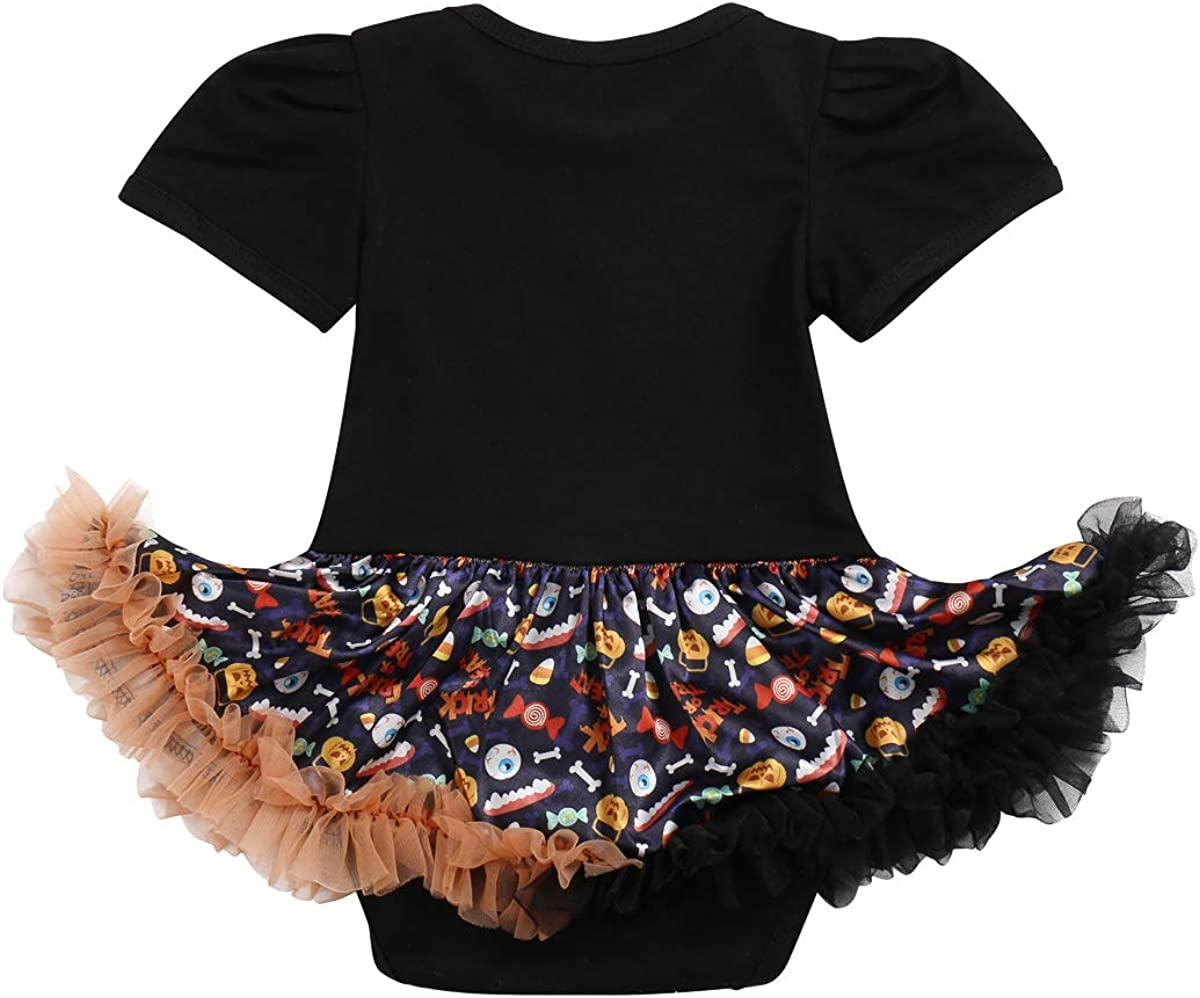 My 1st Halloween Baby Girls Romper Dress+Headband+Shoes Tutu Outfit Fancy Dress Party Costume 2//3Pcs Set Infant Clothes