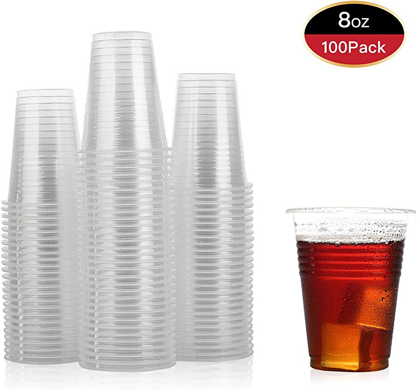 100 Pack 8 Oz Plastic Cups Plastic Cups Clear Plastic Cups 8 Oz Clear Cups Disposable Clear Plastic Cups Water Cups Disposable Cups 8 Oz Water Clear Plastic Cups Clear Plastic Cups Plastic Cups