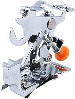 Ruffler Sewing Machine Presser Foot for All Low Shank Singer Brother, Babylock,New Home, Janome, Kenmore, Bernina, Bernette Pfaff Husqvarna Juki Feet for Gathering, Pleats and Ruffles