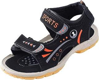Hopscotch Boys PU Text Print Open Toe Sandal - Black
