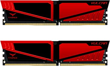 TEAMGROUP T-Force Vulcan DDR4 16GB (2x8GB) 2666MHz (PC4-21300) CL15 Desktop Memory Module ram - Red