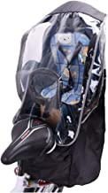 Pinji - Burbuja de Lluvia Protector Cubierta Contra Lluvia y Viento para Asiento Trasero de Bebé de Bicicleta Impermeable con Ventana Plegable Fácil de Almacenaje