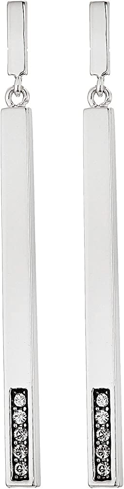 Cole Haan - Stick Pave Bottom Linear Earrings