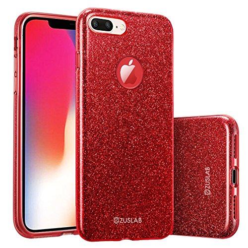 ZUSLAB Compatible for iPhone 8 Plus/iPhone 7 Plus Funda - Rojo