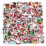 100PcsChristmasStickers, Boys Girls Perfect Waterproof Vinyl Stickers for Laptop, Skateboard Stickers for Teens, Water Bottles, Computer, Phone, Cars, Motorcycle, Bicycle, Suitcase