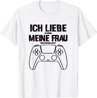 Zocken Ich liebe meine Frau Gaming PS5 Konsole Gamer T-Shirt
