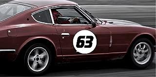 Best removable vinyl race car numbers Reviews
