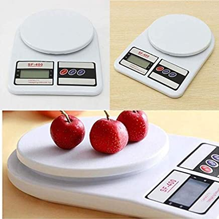 Ionix Digital Kitchen Scale Electronic Digital Kitchen Weighing Scale for Kitchen/Weight Machine for Kitchen, 10 Kgs Weight Measure Spices Vegetable Liquids, Ivory