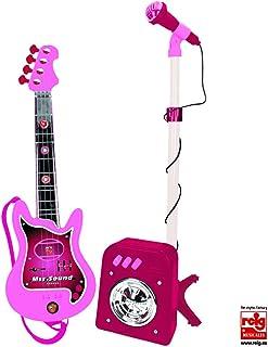 CLAUDIO REIG- Conjunto Flash micrófono + bafle + Guitar, Color Rosa (8441)