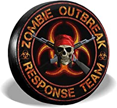 JKqueen Zombie Outbreak Response Group 3 Spare Tire Cover Universal Wheel Tire Cover for Jeep Trailer RV SUV Truck Camper Travel Trailer Accessories
