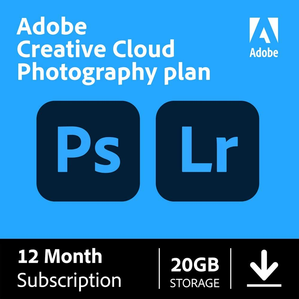 Detroit Mall Adobe Year-end gift Creative Cloud Photography plan Lightro GB 20 + Photoshop