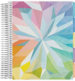 Erin Condren 12 - Month 2020-2021 Kaleidoscope Colorful Coiled Life Planner with Layers Colorful Interior (July 2020 - June 2021) Horizontal Weekly Layout. Organizer, Calendar Tabs and Stickers