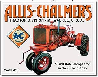 ShopForAllYou Vintage Decor Signs Allis Chalmers Metal tin Sign Model WC Farm Tractor Home Garage Wall Decor New