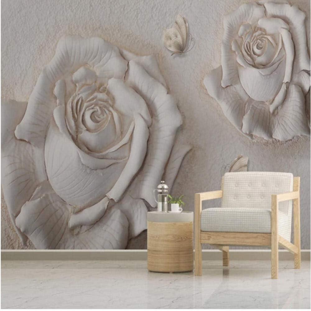 Photo Wallpaper 3D Regular dealer Stereo Store Relief Murals Rose Room Flowers Living