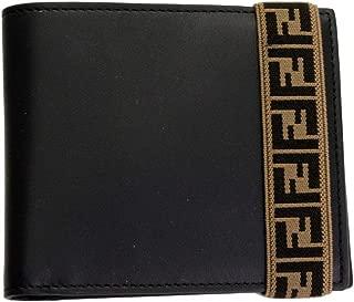Men's Black Leather Bi-fold Wallet 7M0266