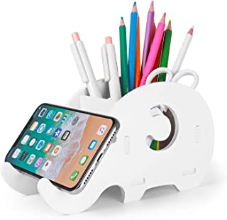 Desk Supplies Organizer, Mokani Cute Elephant Pencil Holder Multifunctional Office Accessories Decoration with Cell Phone ...