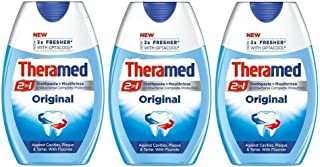 Theramed 2 in 1 Original Antibacterial Protection With Fluoride Toothpaste 3er Pack (3 x 75 ml)