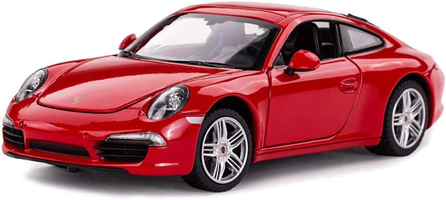 Model car Car model sports car model 1 24 scale model toy car model alloy model diecasting model toy car model collection decoration gift (color   Red)
