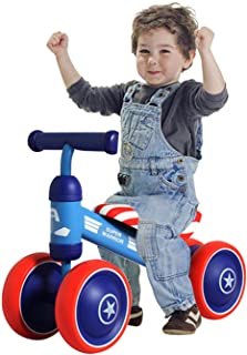 Baby Balance Bike Children Walker Sliding Bicycle with 4 Wheels Gift for Kids