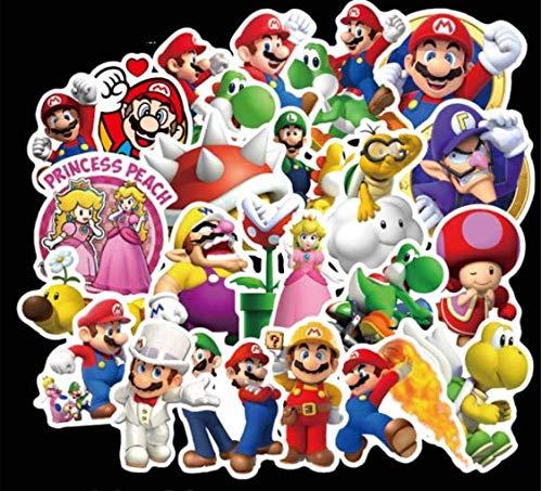 DZCYAN 100 Teile/Satz Bunte super Mario Aufkleber für Laptop Skateboard Cartoon super Mario DIY Aufkleber Kinder Spielzeug (frei nach Russland)
