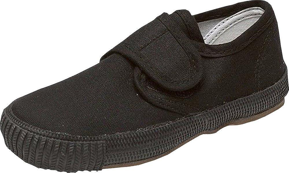 Black Velcro Plimsolls UK 9 Infant