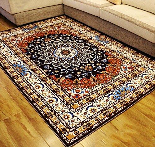 Moquettes tapis et sous-tapis Style européen Rétro Magnifique Salon Carpet Canapé Table basse Tapis Chambre Tapis de chevet 6 tailles (taille : 100 * 160cm)