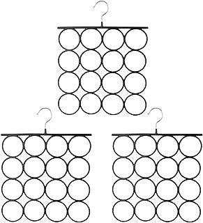 Tosnail 3 Pack Total 48 Rings Steel Non-Slip Tie Hanger Scarf Hangers Scarf Organizer Scarf Holder Legging Hanger Closet Space Saver