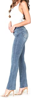 Wannabettabutt Front-Rise Denim Bootcut Jeans, Hand Sand+Whiskers