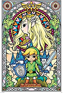 Legend of Zelda Laminated The Stained Glass Window Maxi Poster 61x91.5cm