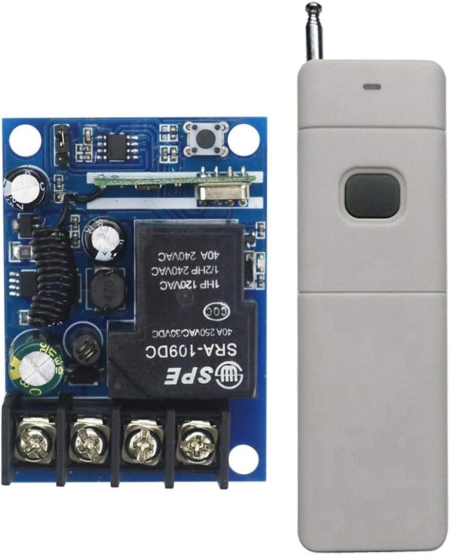 DC1248V 12V 24V 36V 48V 1CH 10A RF Wireless Remote Control Switch