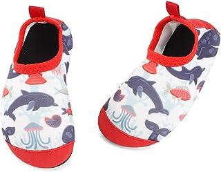TIZAX Zapatos Verano de Agua para bebés Zapatos Escarpines Antideslizantes para niños Calcetines Descalzo de Secado rápido...