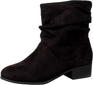 Best black slouch boots with heel Reviews