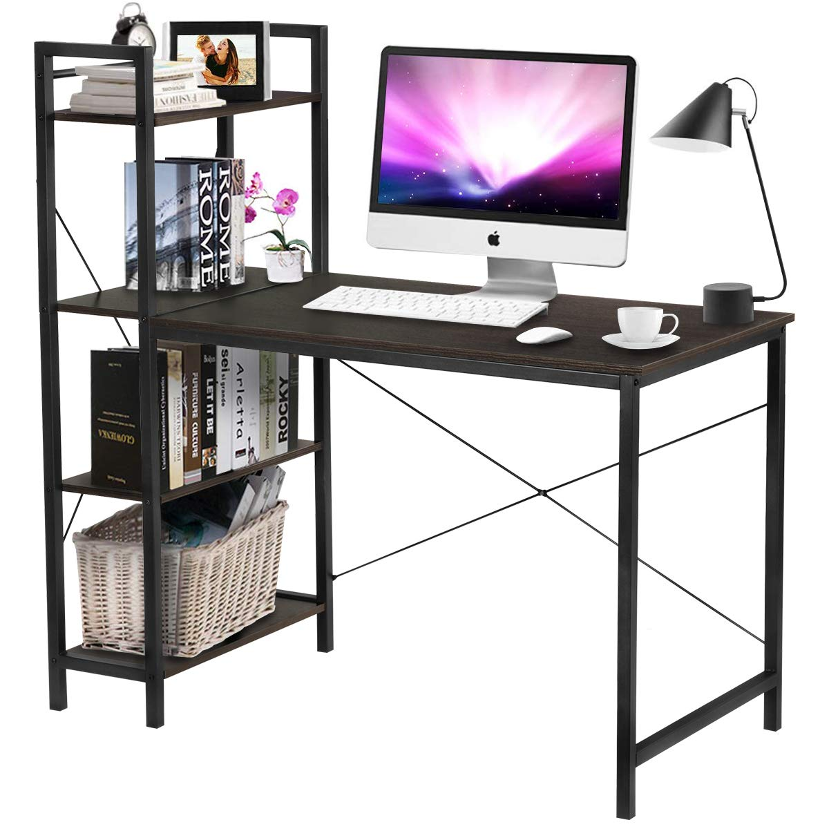 Computer Writing Shelves Multipurpose Workstation
