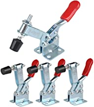 E-TING 4Pcs Hand Tool Toggle Clamp 201B Antislip Red Horizontal Clamp 201-B Quick Release Tool for Woodworking