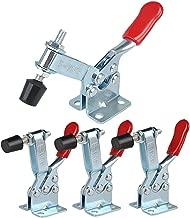 E-TING 4Pcs Hand Tool Toggle Clamp 201B Antislip Red Horizontal Clamp 201-B Quick Release Tool