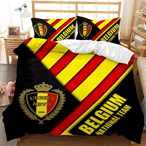 BLSM 3d Liverpool bedding double Football Giants Bedding Polyester Fiber Quilting Bedroom Set Comfortable Duvet Cover And Pillowcase (3pcs200*230cm,Belgium)