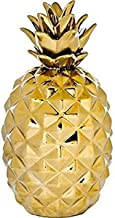 Home Essentials 11 inches Height Gold Metallic Pineapple