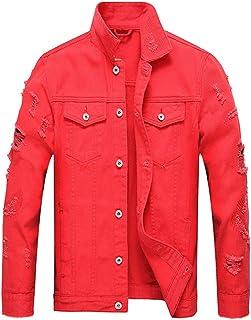 33008a3ab6c4 Allywit Mens' Button Solid Color Vintage Denim Jacket Tops Blouse Coat Plus  Size