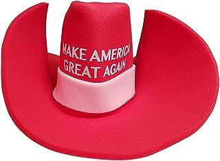 Yuge MAGA Cowboy Hat Make America Great Again Donald Trump Giant MAGA Foam Hat Red
