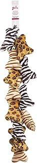 Zanies Mini Wild Style Bone Dog Toys, 12-Piece Clip Strips