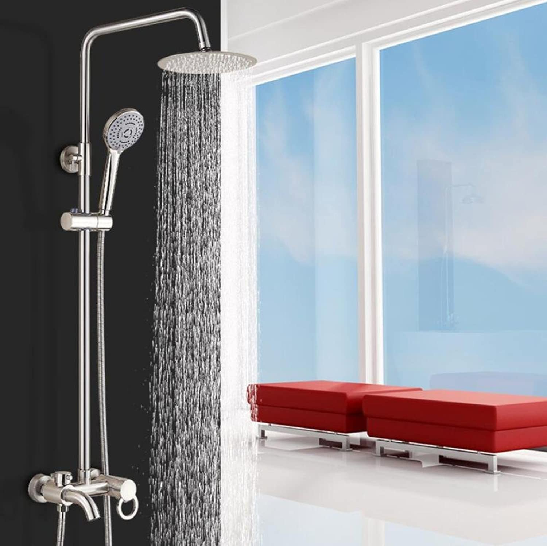 ZHFC Bathroom Shower Systems,Brushed three-way shower shower set,Wall-mounted Adjustable Shower Holder for bathroom Handheld Showerheads