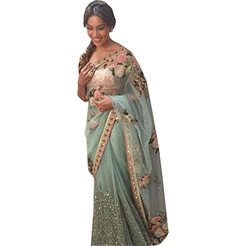 f13227f100590 Rekha Ethnic Shop Sea Green Color Heavy New Designer Sari Ladies Wedding  Wear Saree