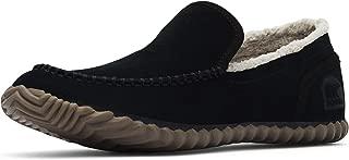 Sorel - Men's Dude Moc House Slippers and Faux Fur Lining, Suede, Black/Black, 15 M US