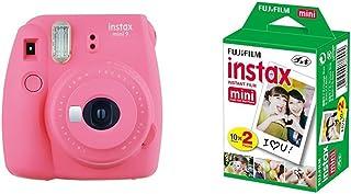 Fujifilm Instax Mini 9  Rosa + 4 paquetes de películas fotográficas instantáneas (10 hojas)