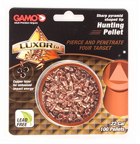 Gamo Luxor CU 632282154 Sharp Pyramid Hunting Pellets 0.22c