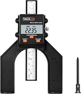 Tiefenmesser, 0~80mm Digitaler Profiltiefenmesser, Höhenmesser für Oberfräse, Tiefenlehre mit Magnetischen Füßen für Holzbearbeitung und Maschinenbau-Tacklife MDG01